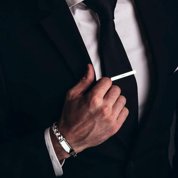 Platinum jewelry bracelet man bracelet with suit