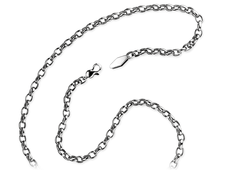 men's platinum rolo chain necklace chain for men from ByEnzo Jewelry