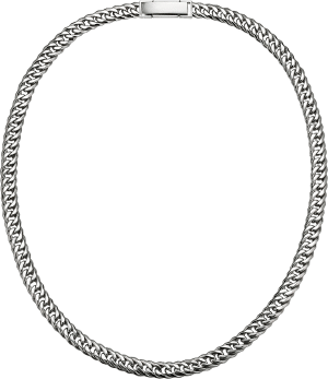 mens platinum curb chain necklace chain from ByEnzo Jewelry
