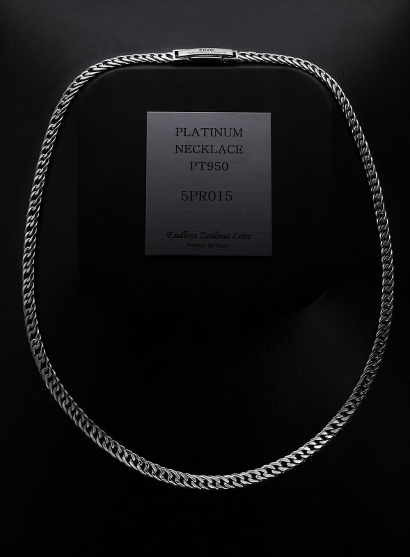 dual curb chain necklace PT950 from ByEnzo Jewelry