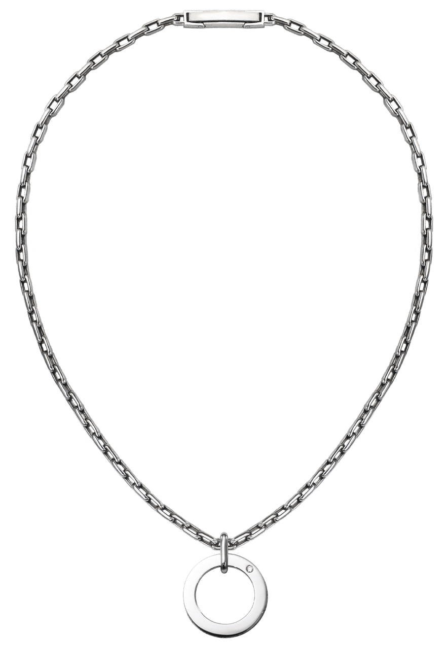 platinum pendant pt 950 with diamond lock cable chain necklace for men from byenzo jewelry
