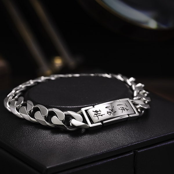 10mm platinum curb chain for men byenzo jewelry