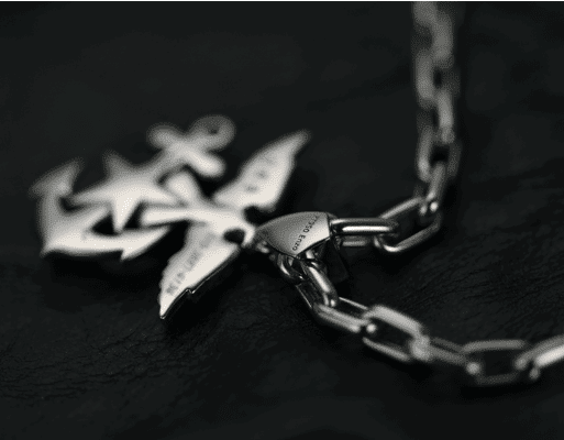 anchor eagle platinum pendant custom made byenzo jewelry for men