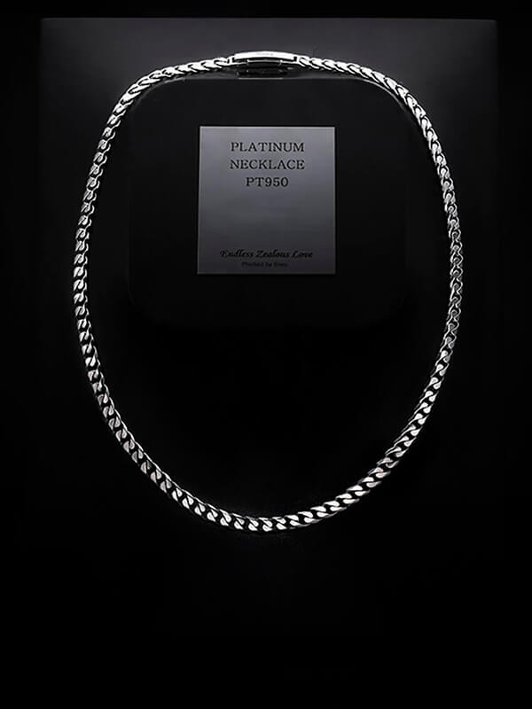 platinum chain necklace for men from byenzo jewelry