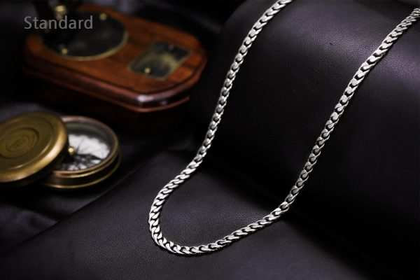 platinum chain necklace for men in 7mm width byenzo jewelry