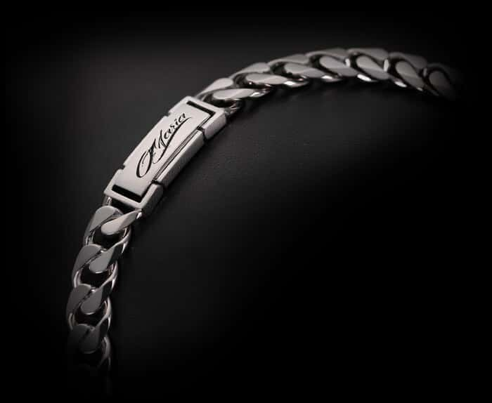 platinum bracelet chain for men in ByEnzo Jewelry