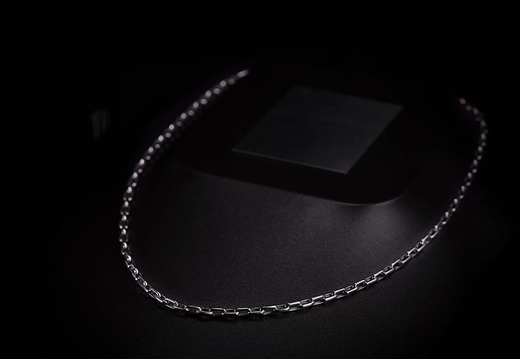 men's platinum necklace lock chain cable chain ByEnzo Jewelry