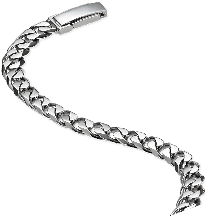 platinum 950 curb chain necklace for men from ByEnzo Jewelry