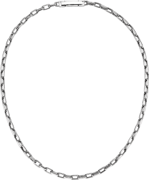 lock chain cable chain platinum necklace for men from ByEnzo Jewelry