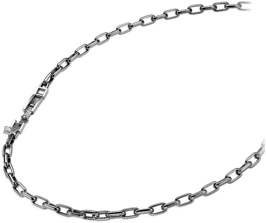 platinum cable chain lock chain necklace for men from ByEnzo Jewelry
