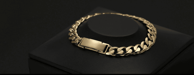 18k gold curb chain bracelet ByEnzo Jewelry
