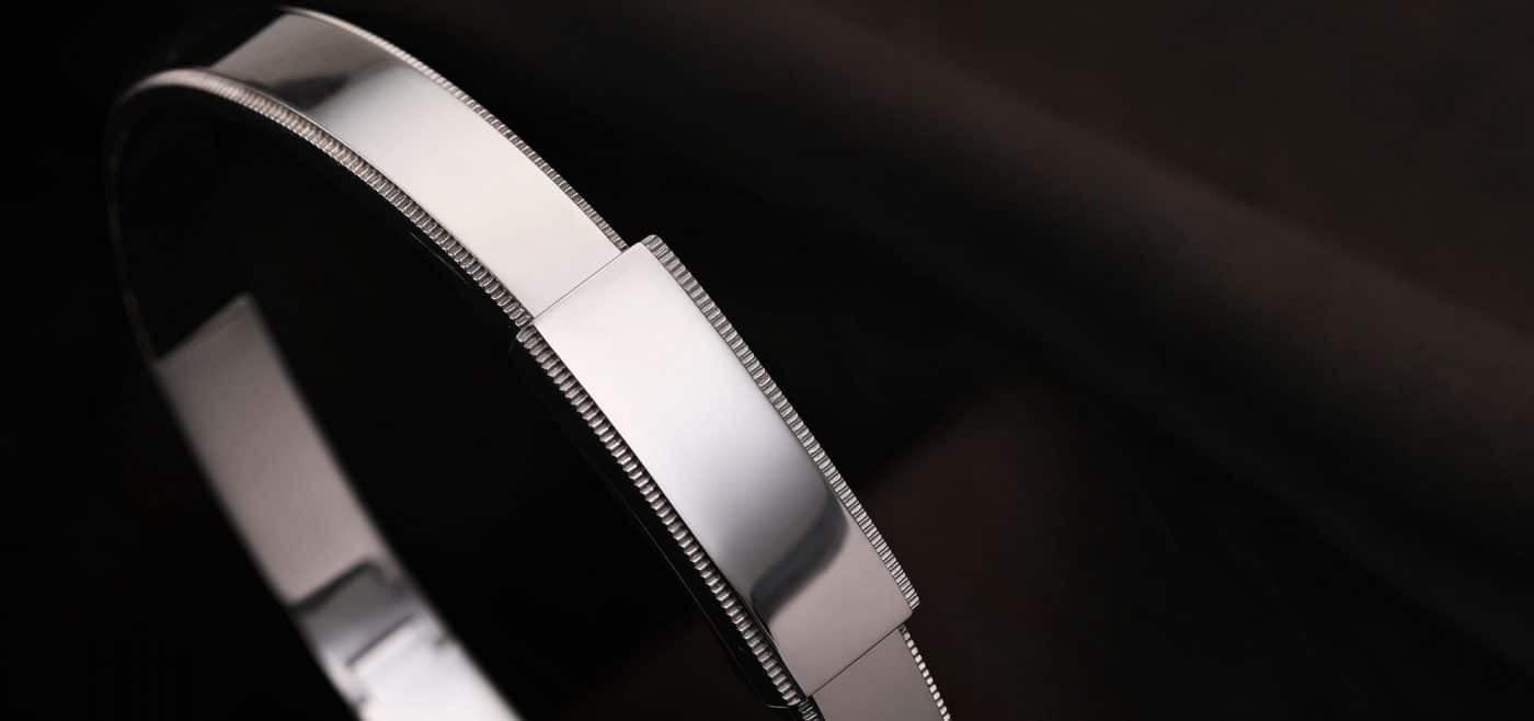 platinum bangle bracelet for men from ByEnzo Jewelry