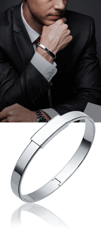 men's platinum bangle bracelet from ByEnzo Jewelry