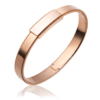 Men's 18k rose gold Bangle Bracelet-8mm width ByEnzo Jewelry