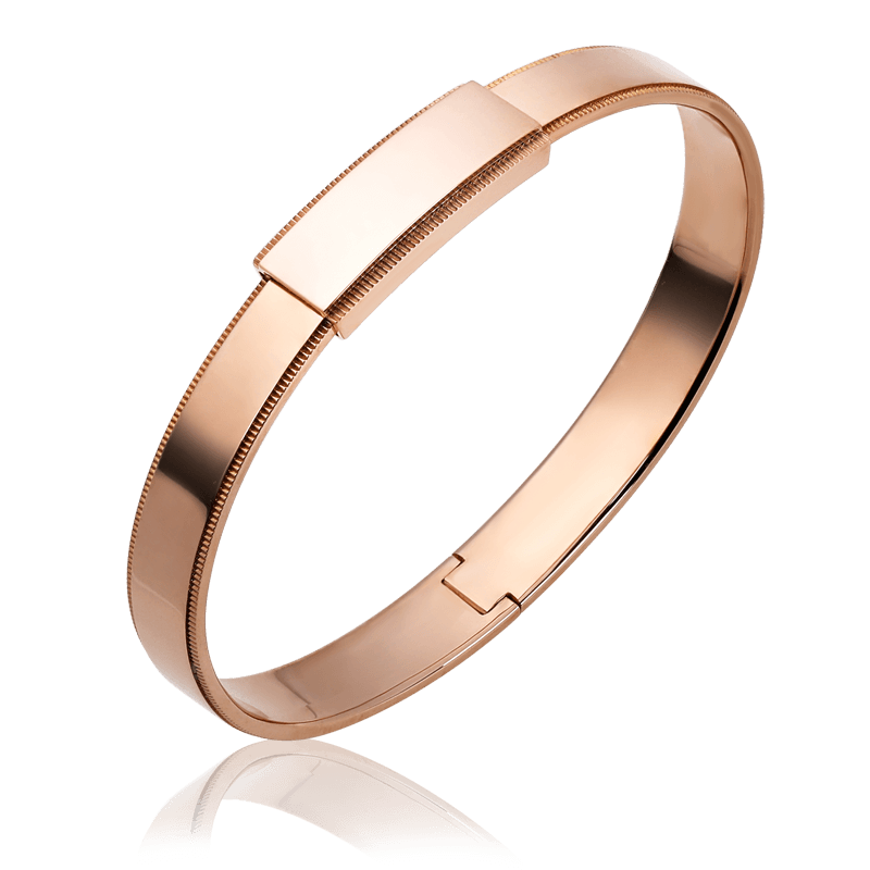 18k gold bangle bracelet for men from ByEnzo Jewelry