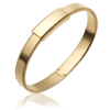 Men's 18k yellow gold Bangle Bracelet-8mm width ByEnzo Jewelry