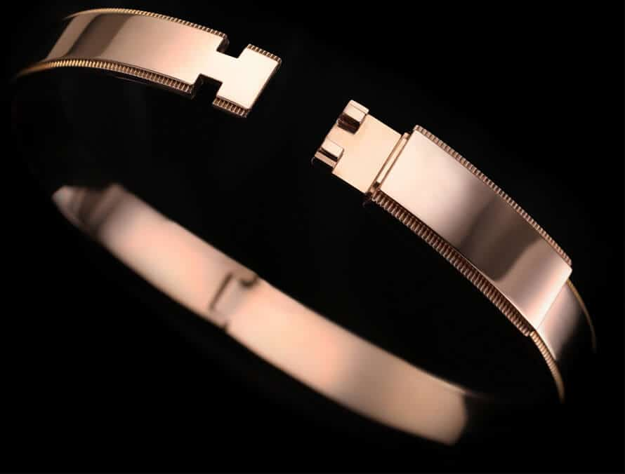 rose gold 18k gold bangle bracelet from ByEnzo Jewelry