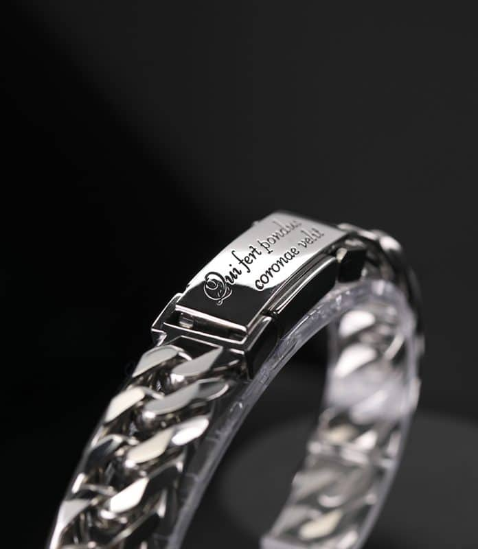 12mm platinum curb chain bracelet ByEnzo Jewelry for men