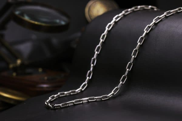 men's platinum lock chain necklace for men