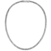 Men's  Platinum Necklace standard curb chain-5mm width ByEnzo Jewelry