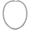 Men's Platinum Necklace standard curb chain-7mm width ByEnzo Jewelry